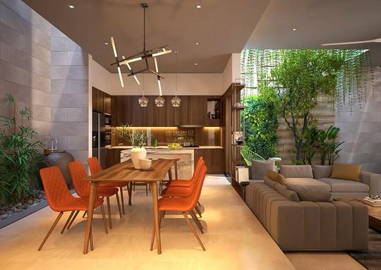 Nhà ở như công viên nhờ có vườn cây bên trong - Ảnh 6.
