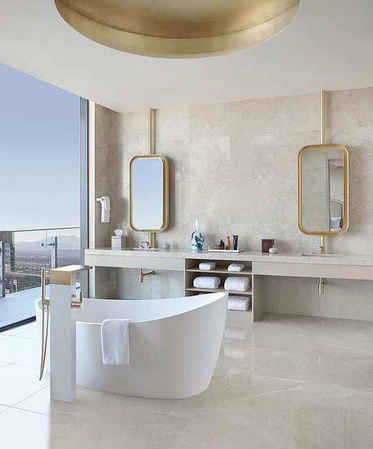 Chỉ nhờ mẹo thiết kế này mà phòng tắm luôn khiến người dùng thoải mái - Ảnh 7.