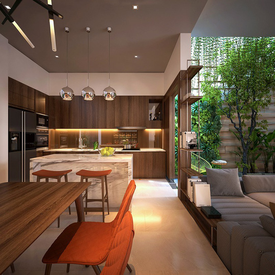 Nhà ở như công viên nhờ có vườn cây bên trong - Ảnh 9.