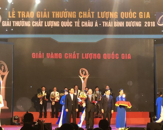 Vedan Việt Nam vinh dự nhận Giải Vàng Chất lượng Quốc gia năm 2018 - Ảnh 1.
