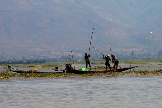 Những ngôi làng nổi trên mặt nước ở Myanmar - Ảnh 11.