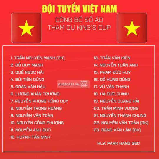 Tuyển Việt Nam công bố số áo: Nguyên Mạnh nhận lại số 1, Tuấn Anh chọn áo Công Phượng - Ảnh 1.