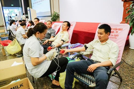 Hàng ngàn nhân viên Thaco hiến máu nhân đạo - Ảnh 1.