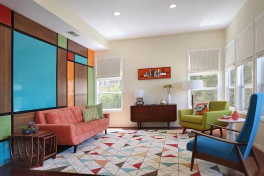 Phòng khách mang phong cách thập niên 50 - Ảnh 5.
