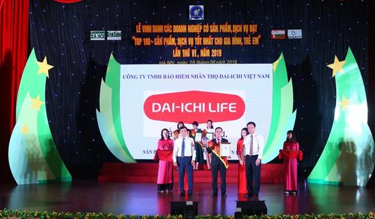 Dai-ichi Việt Nam - Top 100 sản phẩm dịch vụ tốt nhất cho gia đình và trẻ em - Ảnh 1.