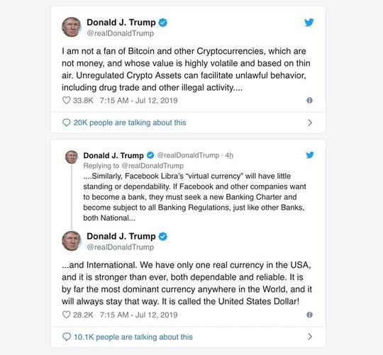 Ông Donald Trump: Tiền số của Facebook sẽ không có chỗ đứng - Ảnh 2.