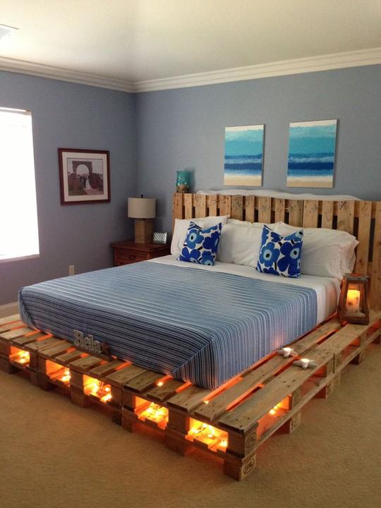 Các kiểu giường pallet có giá hợp lý cho phòng ngủ của bạn - Ảnh 1.