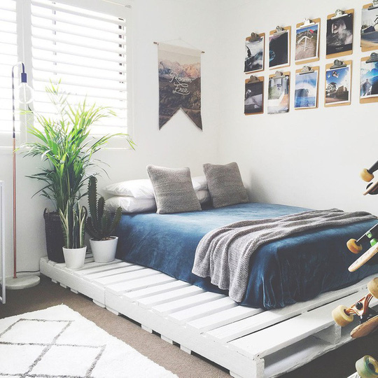Các kiểu giường pallet có giá hợp lý cho phòng ngủ của bạn - Ảnh 2.