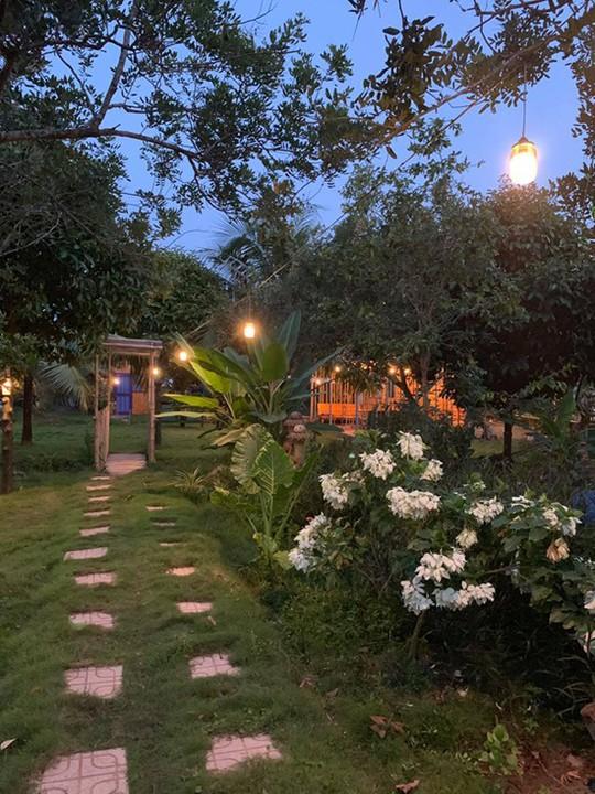 Homestay kiểu nhà tranh giữa vườn trái cây ở Tiền Giang - Ảnh 8.