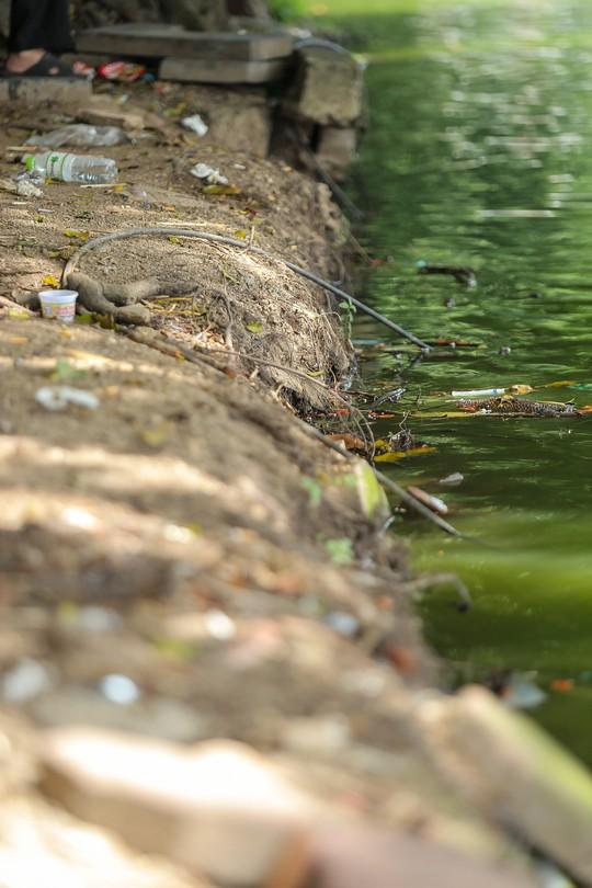 Bờ kè quanh hồ Gươm sụt lún đã nhiều năm nhưng chưa được khắc phục - ảnh 10