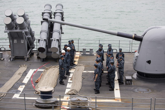 Mỹ điều chiến hạm qua eo biển Đài Loan sau lời cảnh báo của Trung Quốc - ảnh 1