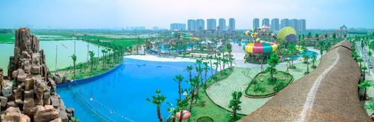 Công viên nước Thanh Hà gây sốt trên mạng xã hội - Ảnh 1.