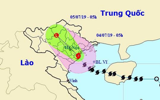 Bão số 2 giật cấp 11 đã đổ bộ vào Hải Phòng-Nam Định rạng sáng nay - Ảnh 1.