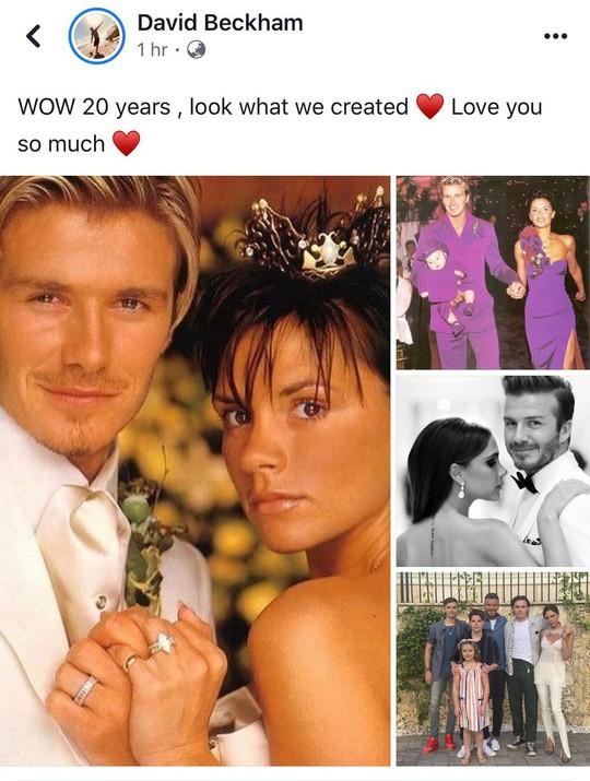 Beckham tự hào 20 năm một vợ bốn con, hạnh phúc với Victoria - Ảnh 1.