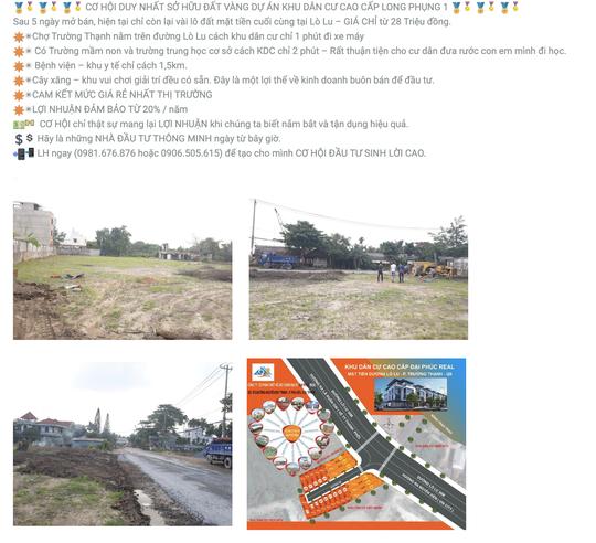 TP HCM: Quận 9 cảnh báo lừa bán đất mặt tiền đường Lò Lu