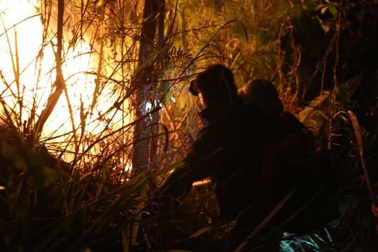 Rừng tại Hà Tĩnh cháy đỏ trời trong đêm, nhiều hộ dân phải sơ tán khẩn cấp - Ảnh 5.