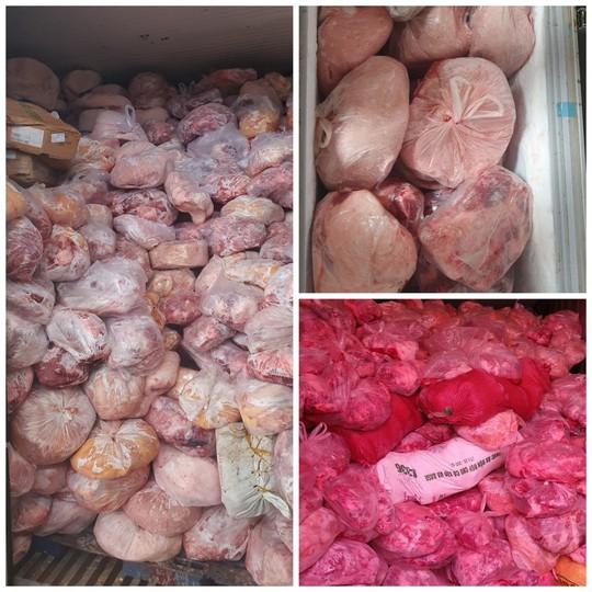Phát hiện 40 tấn thịt heo, gà bốc mùi hôi tại tiệm sản xuất giò chả - Ảnh 1.
