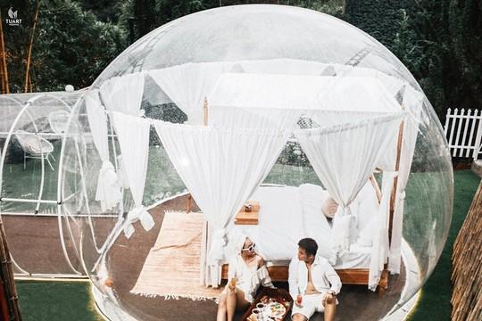 Khách sạn bong bóng trong suốt đẹp tựa Bali vừa xuất hiện ở Đà Lạt - Ảnh 1.
