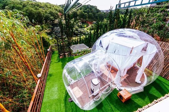 Khách sạn bong bóng trong suốt đẹp tựa Bali vừa xuất hiện ở Đà Lạt - Ảnh 4.