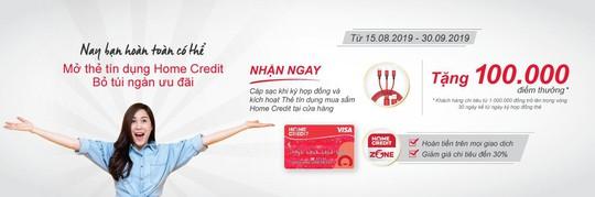 Home Credit tung nhiều chương trình hấp dẫn cho thẻ tín dụng - Ảnh 2.