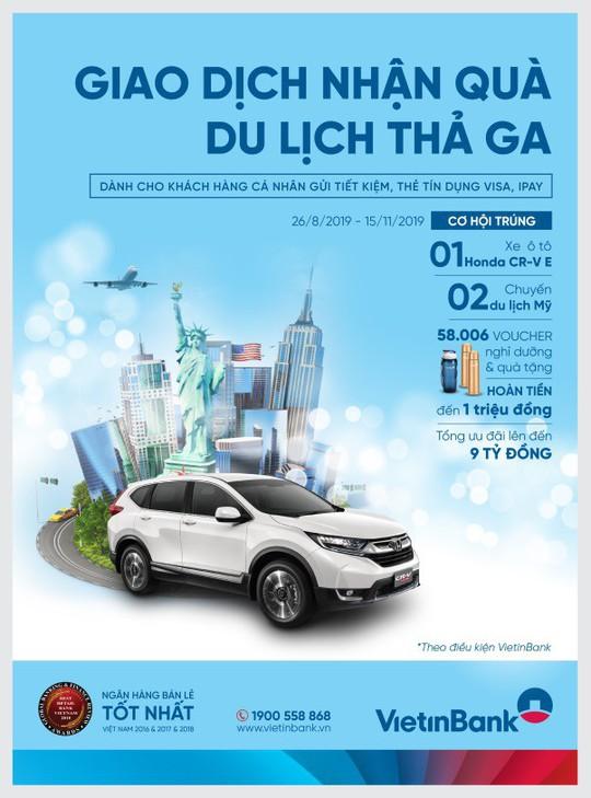 Trúng xe Honda CR-V cùng hàng ngàn quà tặng từ VietinBank - Ảnh 1.