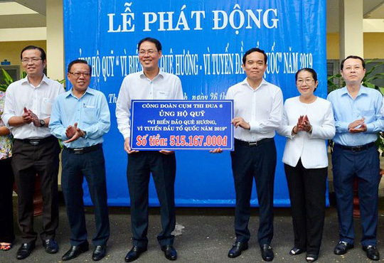 Hơn 500 triệu đồng ủng hộ Quỹ Vì biển đảo quê hương - Ảnh 1.