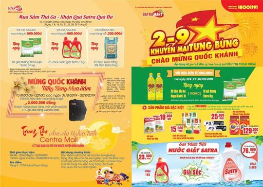 Nhiều chương trình khuyến mãi hấp dẫn dịp Quốc khánh 2-9 tại hệ thống bán lẻ Satra - Ảnh 3.