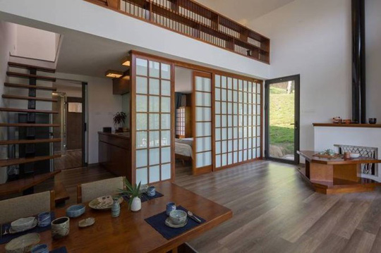 Ngôi nhà kiểu Nhật giữa lưng chừng núi Hòa Bình - Ảnh 4.