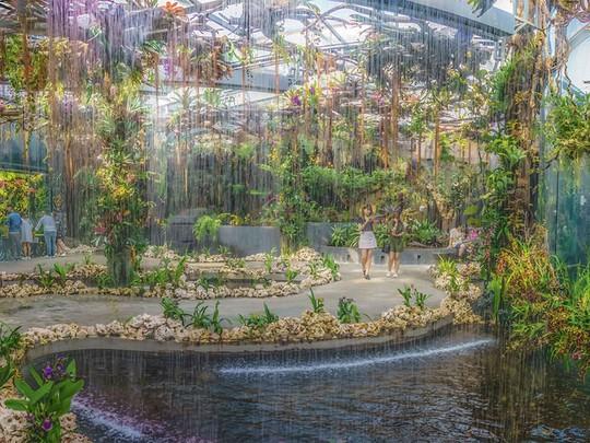 Khu vườn cổ tích với 15.000 bông hoa treo ngược - Ảnh 7.