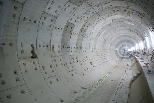 Diện mạo đường hầm Metro số 1 tại trung tâm TP HCM - Ảnh 5.