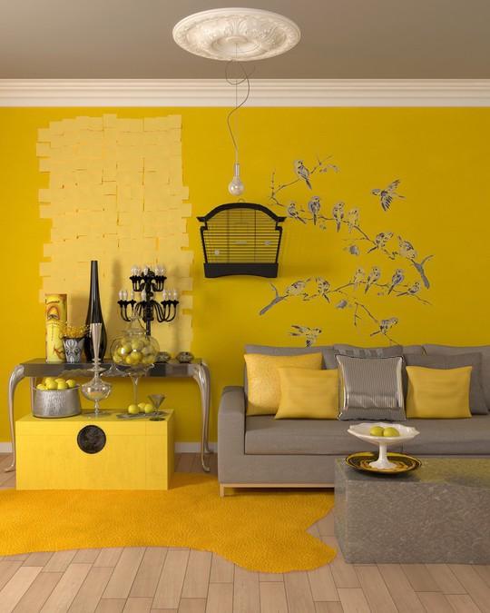 Phòng khách có nội thất màu vàng mang lại cảm giác ấm áp - Ảnh 11.