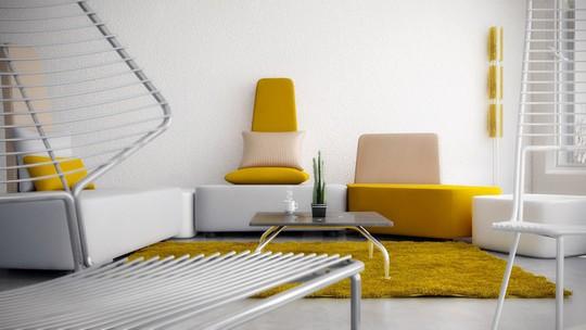 Phòng khách có nội thất màu vàng mang lại cảm giác ấm áp - Ảnh 6.