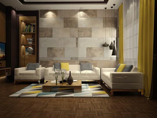 Phòng khách có nội thất màu vàng mang lại cảm giác ấm áp - Ảnh 8.