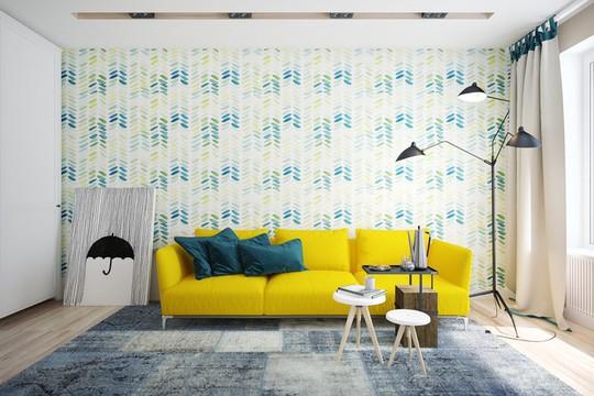 Phòng khách có nội thất màu vàng mang lại cảm giác ấm áp - Ảnh 9.