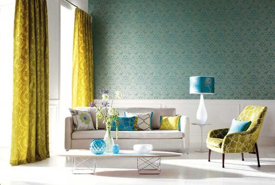 Phòng khách có nội thất màu vàng mang lại cảm giác ấm áp - Ảnh 10.