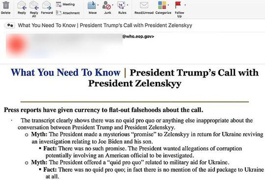 Nhà Trắng gửi nhầm mail đến đảng Dân chủ gây bất lợi cho ông Donald Trump? - Ảnh 1.