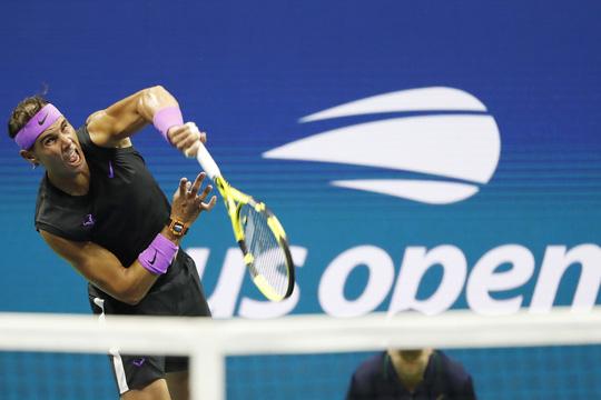 Clip Nadal mạnh mẽ quật ngã đối thủ, vào bán kết US Open 2019 - Ảnh 1.
