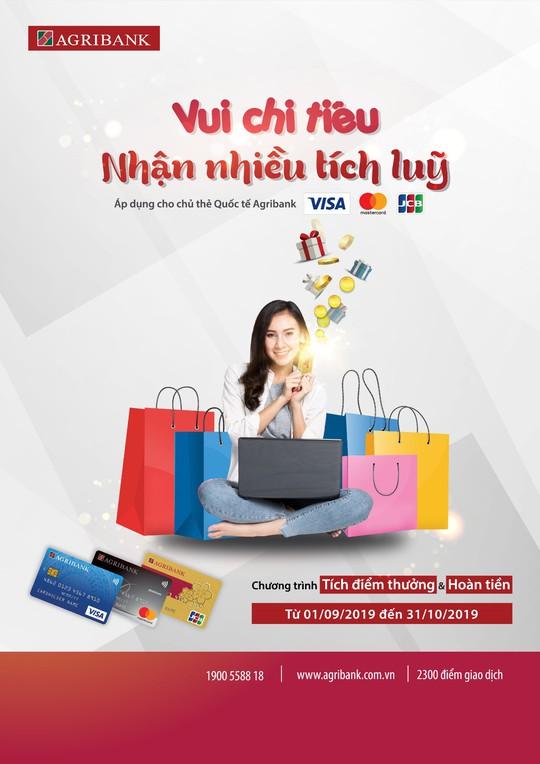Vui chi tiêu nhận nhiều tích lũy cùng thẻ quốc tế Agribank - Ảnh 1.