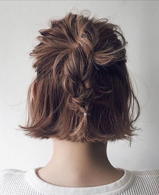 Những kiểu tóc tết đẹp dành cho nàng tóc ngắn - Ảnh 2.