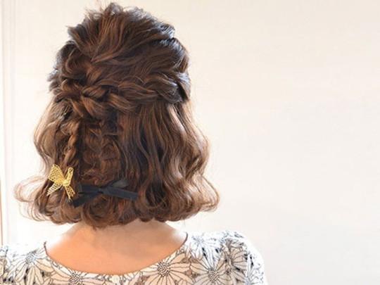 Những kiểu tóc tết đẹp dành cho nàng tóc ngắn - Ảnh 9.