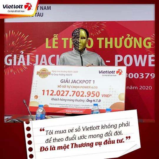 Trúng Vietlott 57 tỉ đồng, tài xế Grabike vẫn chạy xe ôm - Ảnh 2.