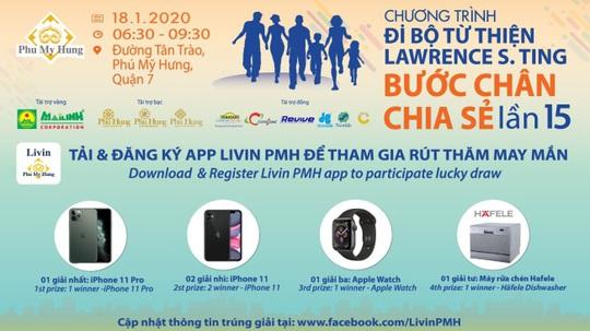 Đi bộ từ thiện có cơ hội trúng iPhone 11 Pro - Ảnh 1.
