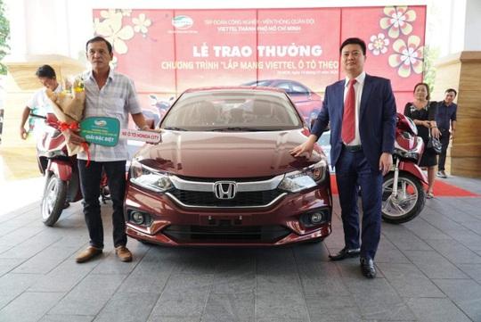 """Ô tô Honda city trong chương trình """"Lắp mạng Viettel - Ô tô theo về"""" đã có chủ - Ảnh 1."""