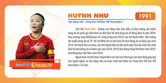 Cầu thủ Huỳnh Như được tuyên dương công dân trẻ tiêu biểu TP HCM năm 2019 - Ảnh 1.