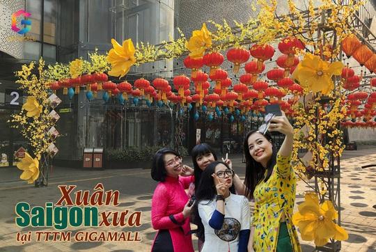 Du xuân đường hoa Sài Gòn xưa, phố ông đồ tại Trung tâm thương mại Gigamall - Ảnh 1.