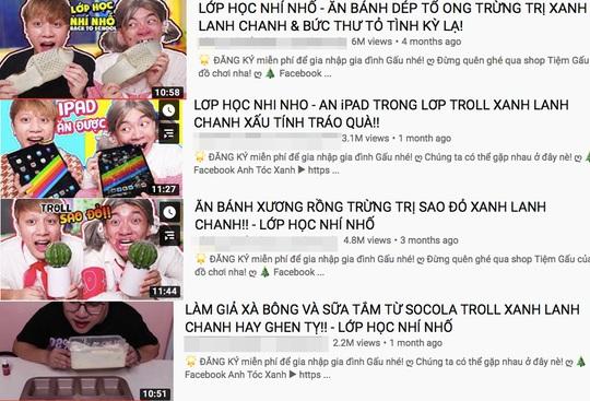 Lại thêm một kênh YouTube có nội dung nguy hại cho trẻ em - Ảnh 1.
