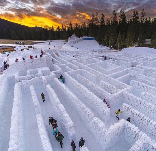 Mê cung tuyết rộng 2.500 m2 ở Ba Lan - Ảnh 2.