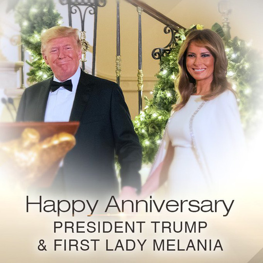 Kỷ niệm 15 năm ngày cưới Tổng thống Donald Trump và đệ nhất phu nhân Melania - Ảnh 4.