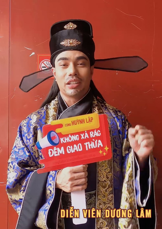 """Nghệ sĩ ủng hộ chiến dịch """"Không xả rác đêm giao thừa"""" của Huỳnh Lập - Ảnh 13."""