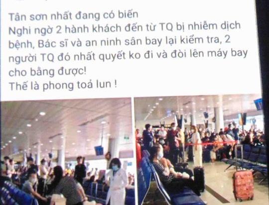 2 ca nhiễm corona vẫn ổn, thực hư tin đồn dội tại sân bay Tân Sơn Nhất - Ảnh 1.